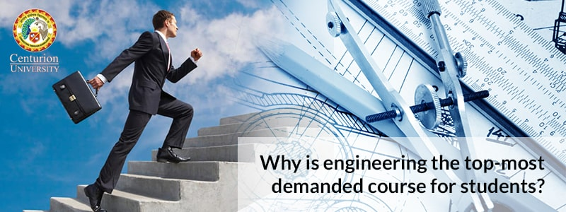 Why is engineering the top-most demanded course for students